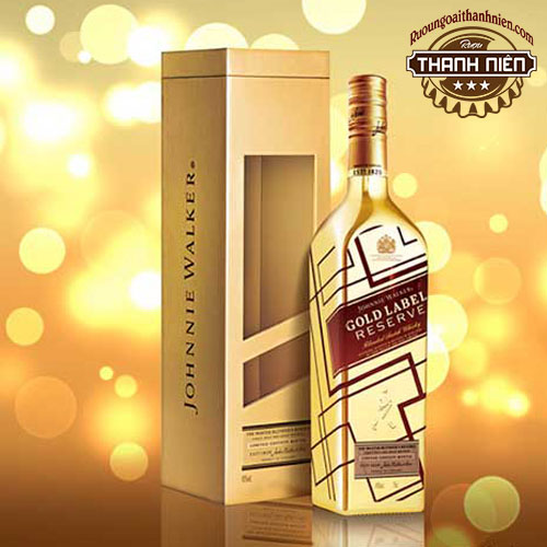 Rượu Johnnie Walker Gold Label Reserve Limited Edition - Chai vàng IBC - ruoungoaithanhnien.com