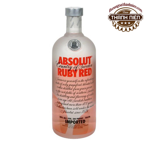 Rượu Absolut Ruby Red 750ml - ruoungoaithanhnien.com