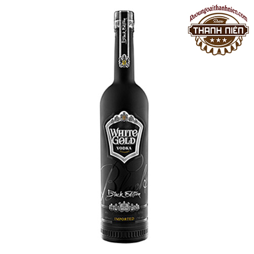 Rượu Vodka White Gold Black Edition 750ml - ruoungoaithanhnien.com